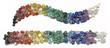 Leinwandbild Motiv Chakra Healing Crystals