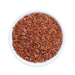 Brown rice in a ceramic bowl