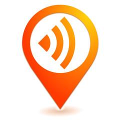 réseau sur symbole localisation orange