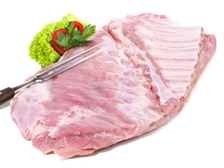 Schweinebauch mit Knochen