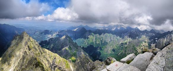 View from the highest peak of Poland - Rysy, Tatra