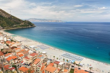 Beautiful beach in Scilla, southern Italy, Calabria region