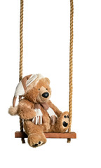 Teddy On The Swing