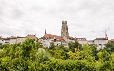 Fribourg, Freiburg, Altstadt, historisches Münster, Schweiz