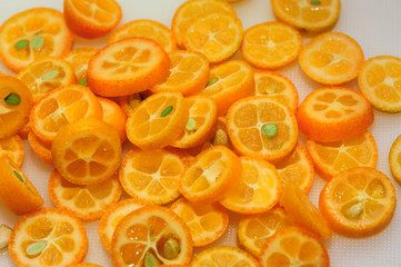 sliced kumquat