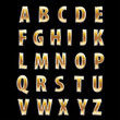 silver golden letters