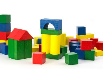 Holzbaukasten Bauklötze mit Textfreiraum