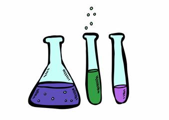 doodle chemistry laboratory