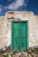 Alte grüne Tür