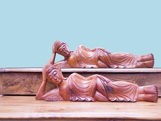 Reclining  Buddha statues