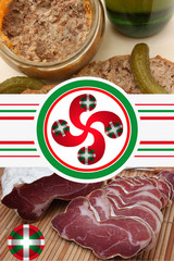 Charcuterie Basque : Noix de Jambon  Pâté . . .