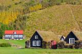 Fototapeta Traditional icelandic houses