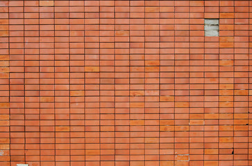 orange brick block wall