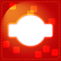 Abstract background with random rounded square.