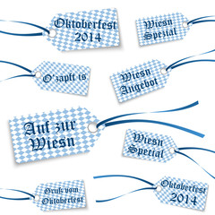 collection Oktoberfest hangtags with text