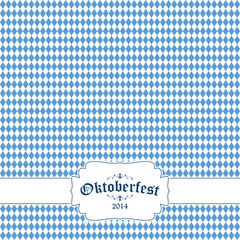 Oktoberfest background with banner and text Oktoberfest 2014