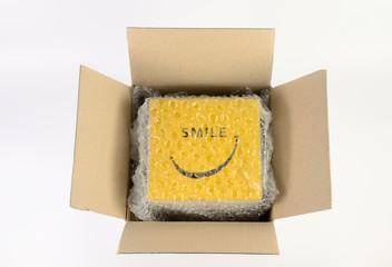 Unwrap cardboard box