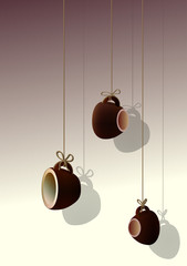 decor: hanging cups