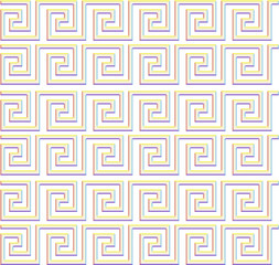 repeating maze like design rainbow