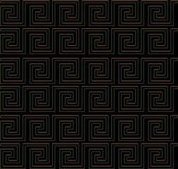 repeating maze like design golden edge