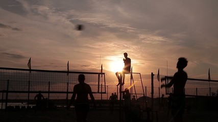 Stock Video Footage volleyball Celestial referee almost god