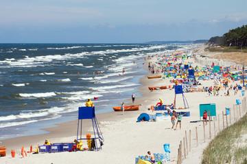 Beach by the sea Bałtycim - Mrzezyno in Poland