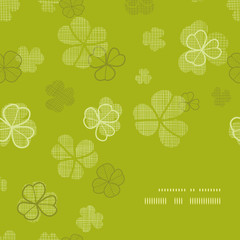 green clover textile texture frame corner pattern background