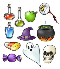 Halloween Objects Collection