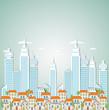 Cartoon abstract city background
