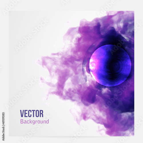 Fototapeta Vector pink cloud. Floral Background Smoke