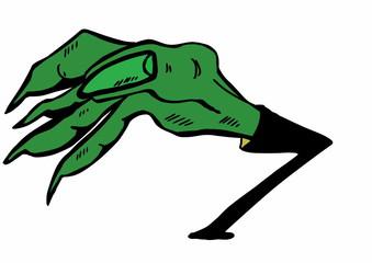 doodle halloween hand symbol