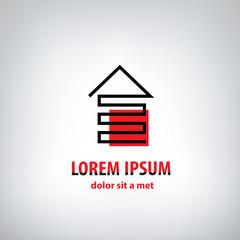 vector house logo for company isolated, identity