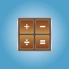 Chocolate math icon