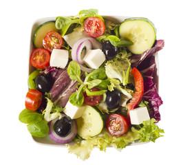Ensalada de lechuga y hortalizas