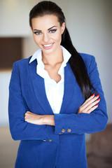 Confident friendly businesswoman