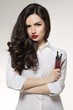 canvas print picture - Beauty salon makeup artist with brushes