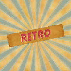 retro sign on blue vintage background