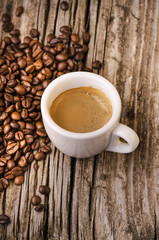 tazzina di caffè expresso