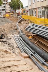 Abwasserumleitung bei Strassenbau- und Kanalbauarbeiten