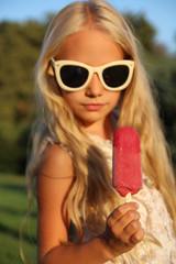 Little girl and ice cream