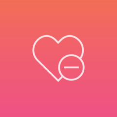 Heart minus - Finely crafted line icons