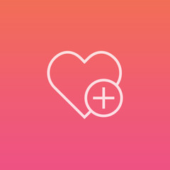 Heart plus - Finely crafted line icons