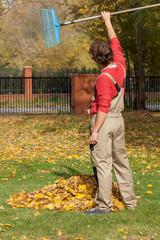 Finished garden raking