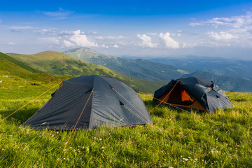 tourist camp in mountains