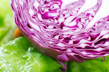 sliced cabbage closeup