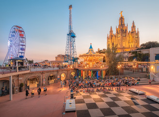 BARCELONA, SPAIN, Temple at Tibidabo