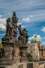 Statues in Charles Bridge Prague