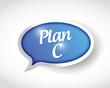 plan c message bubble illustration design