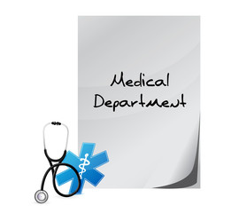medical department sign illustration design