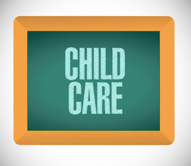 child care message on board illustration design